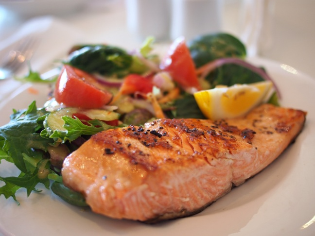 Vitamin B12 rich salmon for lunch or dinner