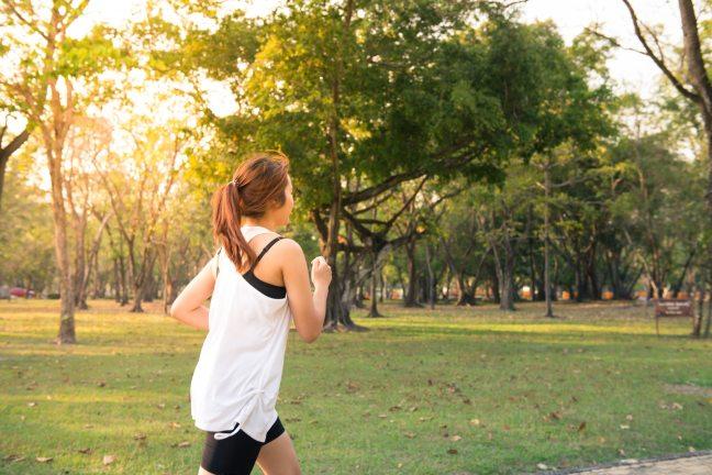 jogging or running in Brisbane park